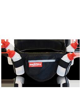 Running belt for 4 flasks